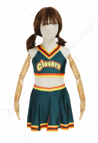 Kids Girls Bring It On Cheerleader Clovers Cosplay Costume Child Uniform Top and Skirt