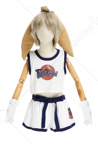 Kids Girls Space Jam Lola Bunny Rabbit Cosplay Costume Full Set with Headwear Accessory and Gloves
