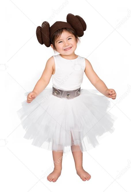 Child Star Wars Princess Leia Organa Dress Halloween Costume For Kids
