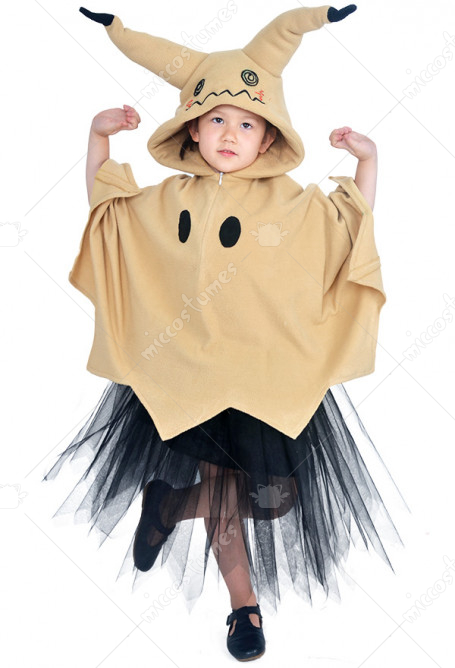 Child Pikachu Mimikyu Halloween Cloak Dress Costume for Kids