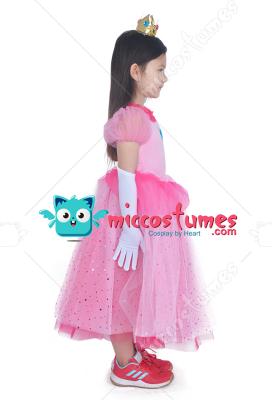 sc 1 st  Miccostumes.com & Child Girls Princess Peach Dress Halloween Costume for Kids with crown