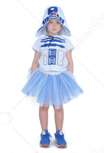 Child Halloween Costume Dress Inspired by Space Wars R2D2 Make to Order