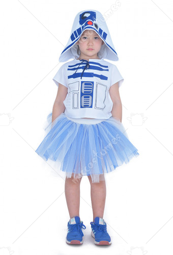 Child Star Wars R2D2 Dress Halloween Costume for Kids