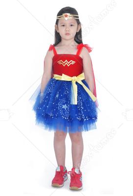 Child Girls Wonder Woman Princess Diana Dress Halloween