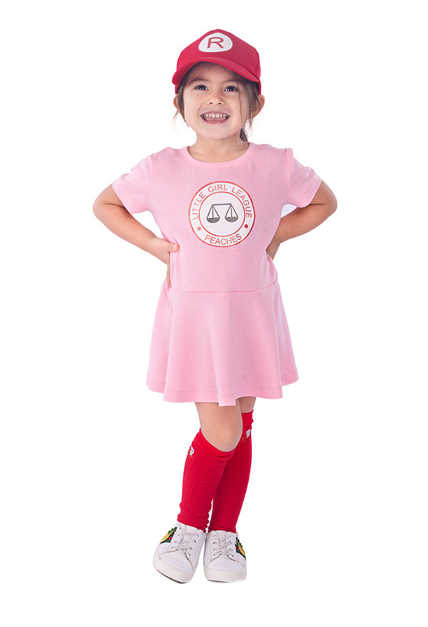 klein Mädchen League Peaches Cosplay Kostüm Kleid mit Hut
