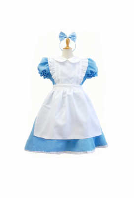 Alice Adventures in Wonderland Kids Alice Christmas Costume Girl Maid Dress