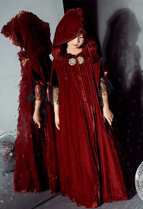 [Free Shipping]Halloween Child Witch Cloak Cape Cosplay Vampire's Hooded Cloak Cosplay Costume