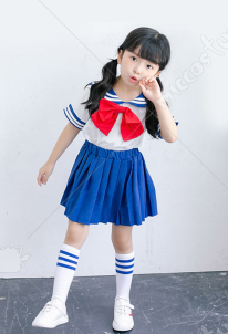 [Free US Economy Shipping] Sailor Moon Tsukino Usagi Sailor Suit Kids Cosplay Costume