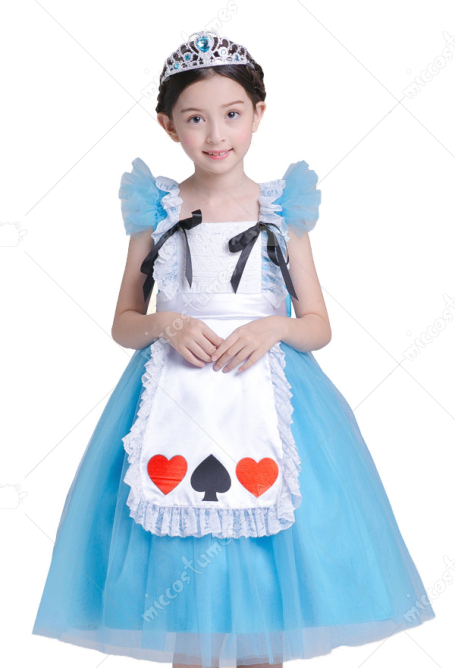 [Free US Economy Shipping] Halloween Cosplay Alice Cosplay Kid Princess Dress Performance Dress
