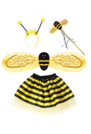 [Free US Economy Shipping] Halloween Cosplay Little Bee Cosplay Kid Performance Four Piece Suit