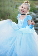 [Free US Economy Shipping] Frozen Elsa Cosplay Childrens Day Kid Princess Tutu Dress