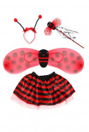 [Free US Economy Shipping] Halloween Cosplay Ladybug Cosplay Kid Performance Four Piece Suit