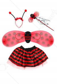 Costume Quatre Pièces Cosplay Ladybug Performance Enfant