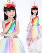 [Free US Economy Shipping] My Little Pony Cosplay Unicorn Dress Kid Tutu Dress