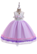 [Free US Economy Shipping] Halloween Cosplay Unicorn Dress Tutu Dress Kid Princess Dress