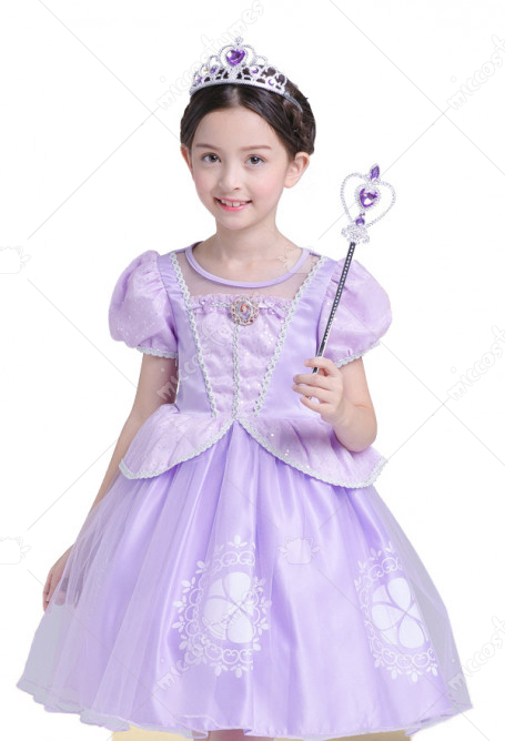 Halloween Cosplay Princess Sofia Cosplay Kid Performance Dress