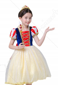 Halloween Cosplay Snow White Cosplay Kid Performance Dress