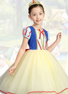 [Free US Economy Shipping] Halloween Cosplay Snow White Cosplay Kid Performance Dress