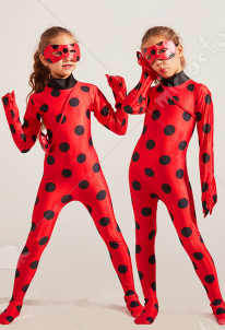 [Free US Economy Shipping] Miraculous Ladybug Cosplay Costume Tight Bodysuit Kid Performance Jumpsuit
