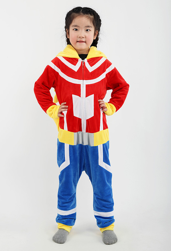 My Hero Academia Izuku Midoriya Deku All Might Süß Kinder Cosplay Kostüm Overall