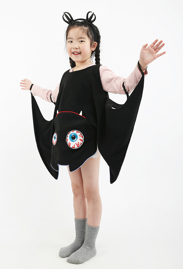 Halloween Vampir Fledermaus Mädchen Kostüm Kleid mit Flügeln für Kinder