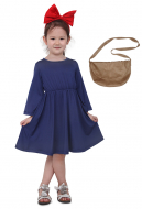 Kikis Delivery Service Kids Halloween Cosplay Costume Witch Dress With Yellow Bag