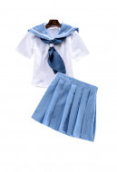 [Free US Economy Shipping] Kill la Kill Mako Mankanshoku Sailor Uniform Skirt Set Cosplay Costume