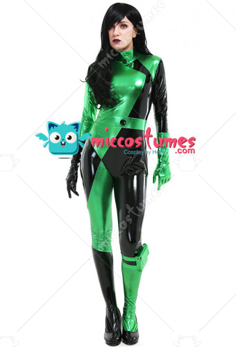 New Kim Possible Shego Bodysuit Jumpsuit Cosplay Costume