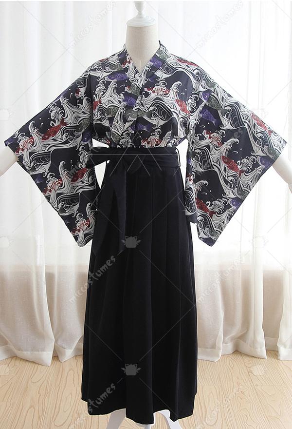 23b8eb8485 Koinobori Printing Haori Yukata - Japanese Kimono   Top Quality ...