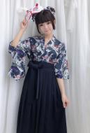 Japanese Kimono Yukata Style Koinobori Printing Haori Dress