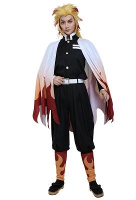 Demon Slayer Kimetsu no Yaiba Flame Pillar of the Demon Slaying Corps Rengoku Kyoujurou Cosplay Costume