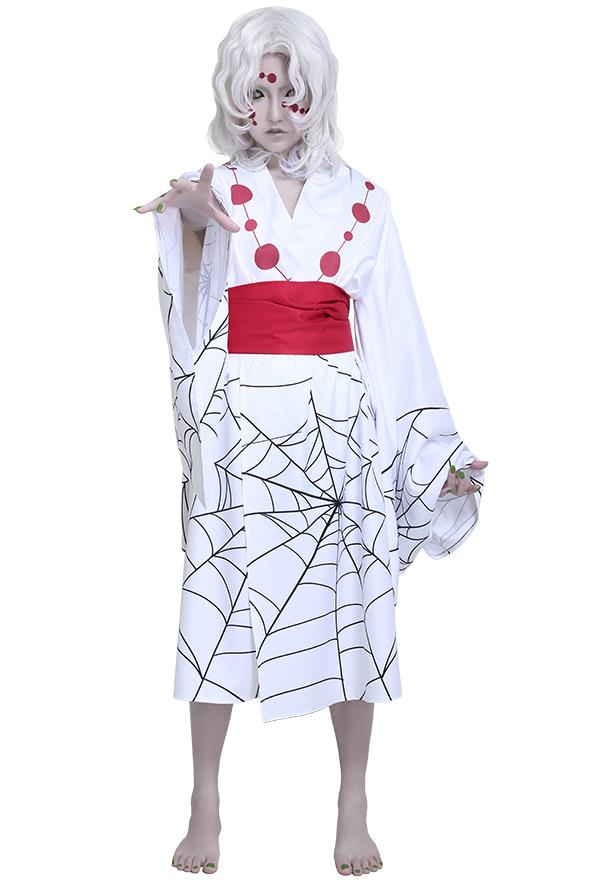 Kimetsu no Yaiba Demon Slayer Rui Twelve Demon Moons Lower Moon Five Cosplay Kostüm Kimono Outfit