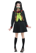 Demon Slayer Kimetsu no Yaiba Costume de Cosplay Nezuko Kamado JK Uniforme Scolaire