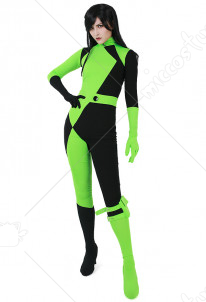 Kim Possible Shego Jumpsuit Cosplay Costume