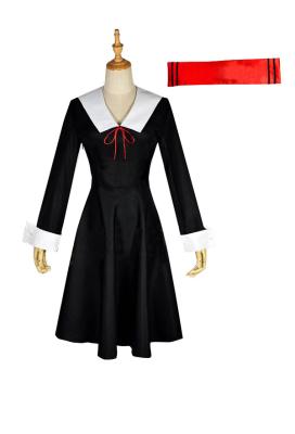 Kaguya-sama: Love Is War Shinomiya Kaguya Fujiwara Chika Dress Cosplay Costume Including Headdress and Socks