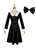 Kaguya-sama: Love Is War Shinomiya Kaguya Fujiwara Chika Dress Cosplay Costume Including Headdress and Socks