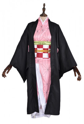 Demon Slayer Kimetsu no Yaiba Nezuko Kamado Kimono Cosplay Costume