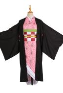 Kimetsu no Yaiba Nezuko Kamado Kimono Cosplay Costume