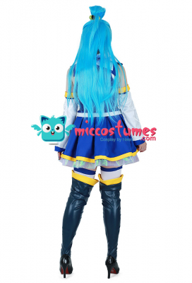 Konosuba God's Blessing On This Wonderful World Aqua Cosplay Costume