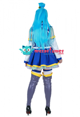 Konosuba God's Blessing On This Wonderful World Aqua Cosplay Costume