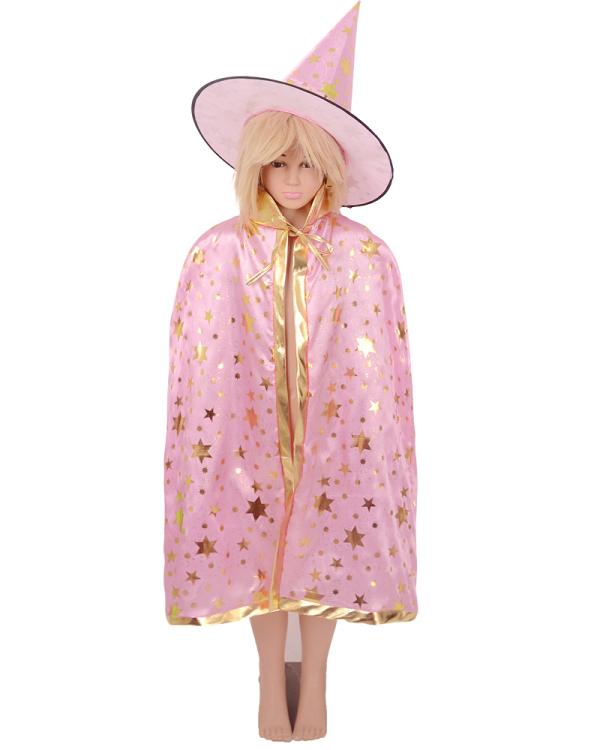 Kind Kleiner Magier Zauberer Hexe kostüm Umhang mit Hut