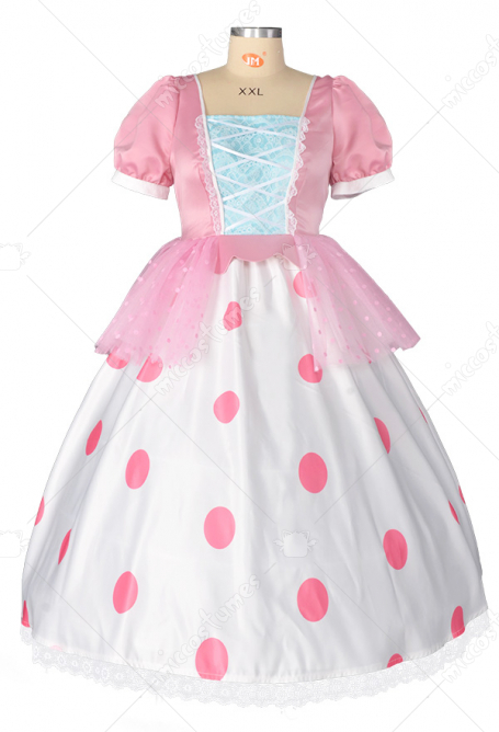 Toy Story Costume de Cosplay Petite Bo Peep Robe avec Chapeau Taille Plus