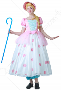 Toy Story Adult Little Bo Peep Cosplay Dress Costume with Hat