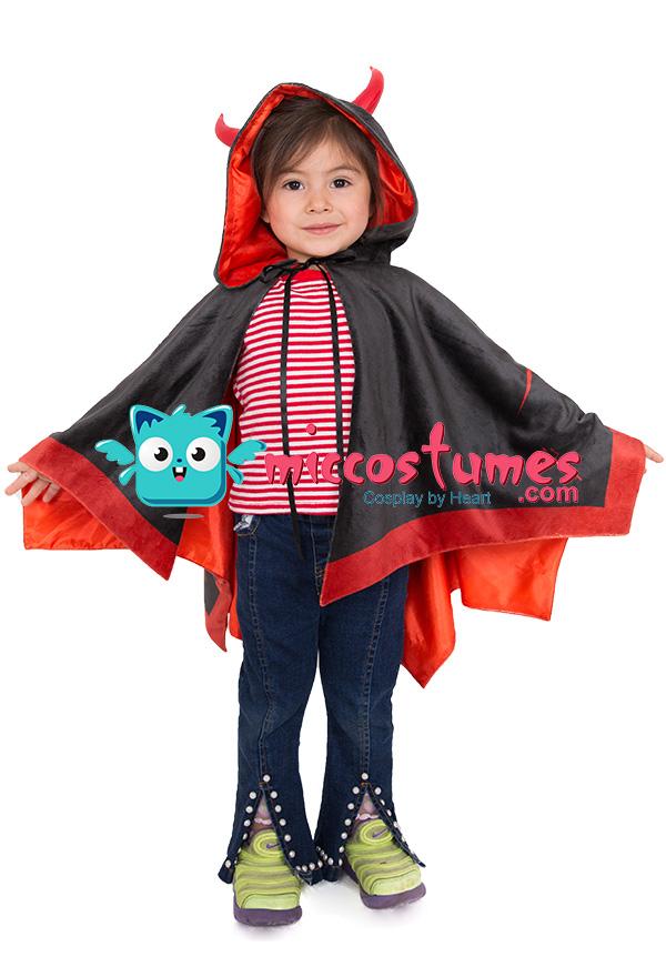 Kind Kleiner Teufel Flügel Halloween Umhang für Kinder