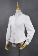 Classic Embroidery Voile Collar Lace Long Sleeve Lolita Blouse