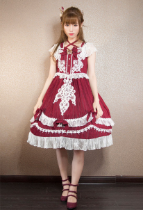 Classic Elegant Off-Shoulder Straps Lolita One Piece Dress