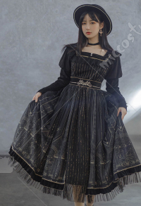 WITH PUJI Robe Lolita OP de Style Royal avec Impressions