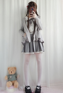 Lolita Shirt Japanese Academic Style Daily Lolita Girlish Heart Soft Girl Coat Lolita Daily Student Suit for Autumn and Winter