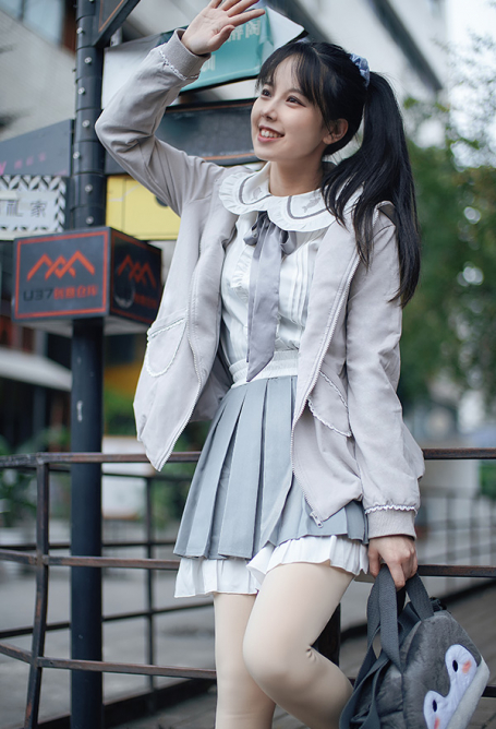 Lolita Skirt Japanese Academic Style Daily Lolita Girlish Heart Soft Girl Lolita Student Skirt for Autumn and Winter