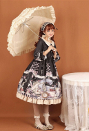 Rabbit And Alice Cute Lolita Daily Dress Vintage Girl One Piece Dress